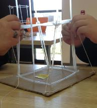 For This Project We Created Our Own Tower With Straws Paper Clips And Pins Team Tried A High Xs In The Middle Each Floor